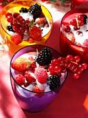 Summer fruit milkshake