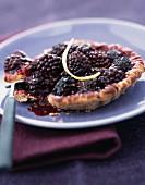 Blackberry and cinnamon tartlet