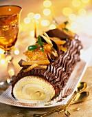 Orangen Baumstamm-Kuchen