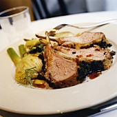 Loin of lamb with tapenade