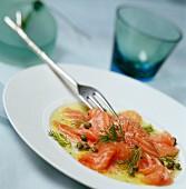 Salmon and dill marinade