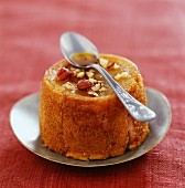 Apple, hazelnut and caramel charlotte pudding