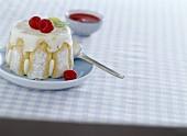 Yoghurt and raspberry charlotte