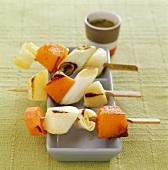 Winter vegetable brochettes