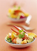 Lobster with summer salad