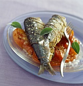 Sardines stuffed with parmesan