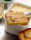 Foie gras terrine with apple