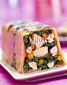 Salmon and vegetable terrine