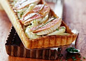 Red mullet and fennel tart