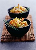 Prawn and beansprout salad