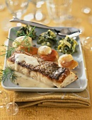 Pike-perch fillet with scallops