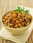 fried spicy chickpeas