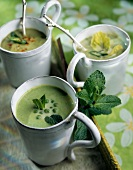 Green spring vegetable soup