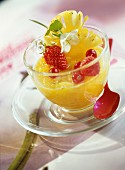Stewed pineapple with summer fruit