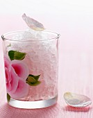 Rose lemonade granita