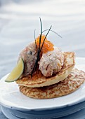 Smoked fish tartare with Brousse cheese