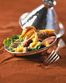 Veal and orange tajine