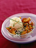 Fish Paupiettes with chanterelles and tarragon