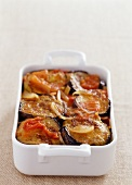Eggplant and potato gratin