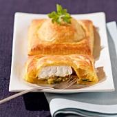 Flaky pastry cod pies