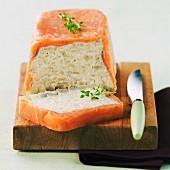 Artichoke terrine with smoked salmon