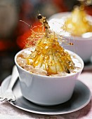 Caramelized pear with chestnut mousse