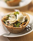 Cep and parmesan tartlet