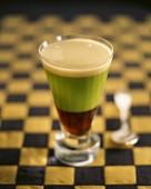 Irish coffee of asparagus and black truffle juice