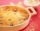 Grape clafoutis batter pudding