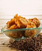 Cumin-flavored potato fritters