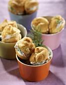 Salmon cream puffs