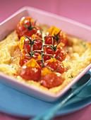 Cherry tomato clafoutis