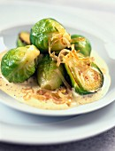 brussels sprouts with mustard duo sauce