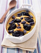 prune clafoutis batter pudding (topic: Robuchon recipe)