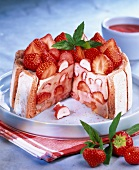 strawberry charlotte with reims biscuits (topic: Robuchon recipe)