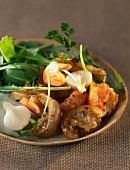 Dublin Bay prawn and sesame seed salad