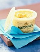 Tub of mayonnaise