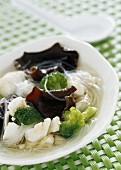 Chinese shiitakes and cod soup