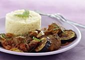 Lamb Colombo with eggplants