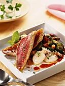 Provençal-style red mullet fillet