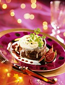 tournedos rossini with goat's cheese and figs