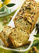 roquefort and hazelnut loaf