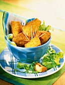 fried camembert croquettes