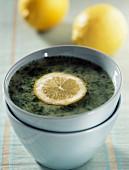 cress soup with lemon
