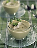 creamed asparagus soup with chervil