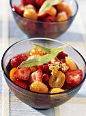 Strawberry and kumquat fruit salad