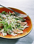 Sea bass and salmon ceviche