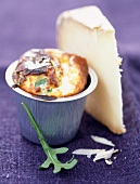 Sheep's cheese and rocket soufflé