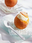 Iced Christmas orange dessert