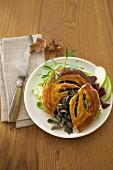 Black trumpet mushroom flaky pastry pies